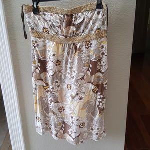 Hawaiian print tube dress Loft